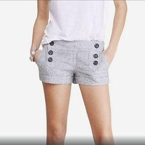 💗(Express) Linen Button Sailor Short